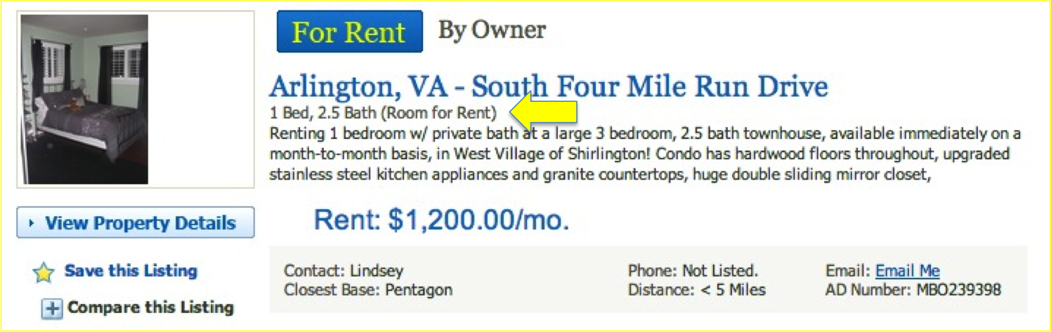Room for Rent Slide
