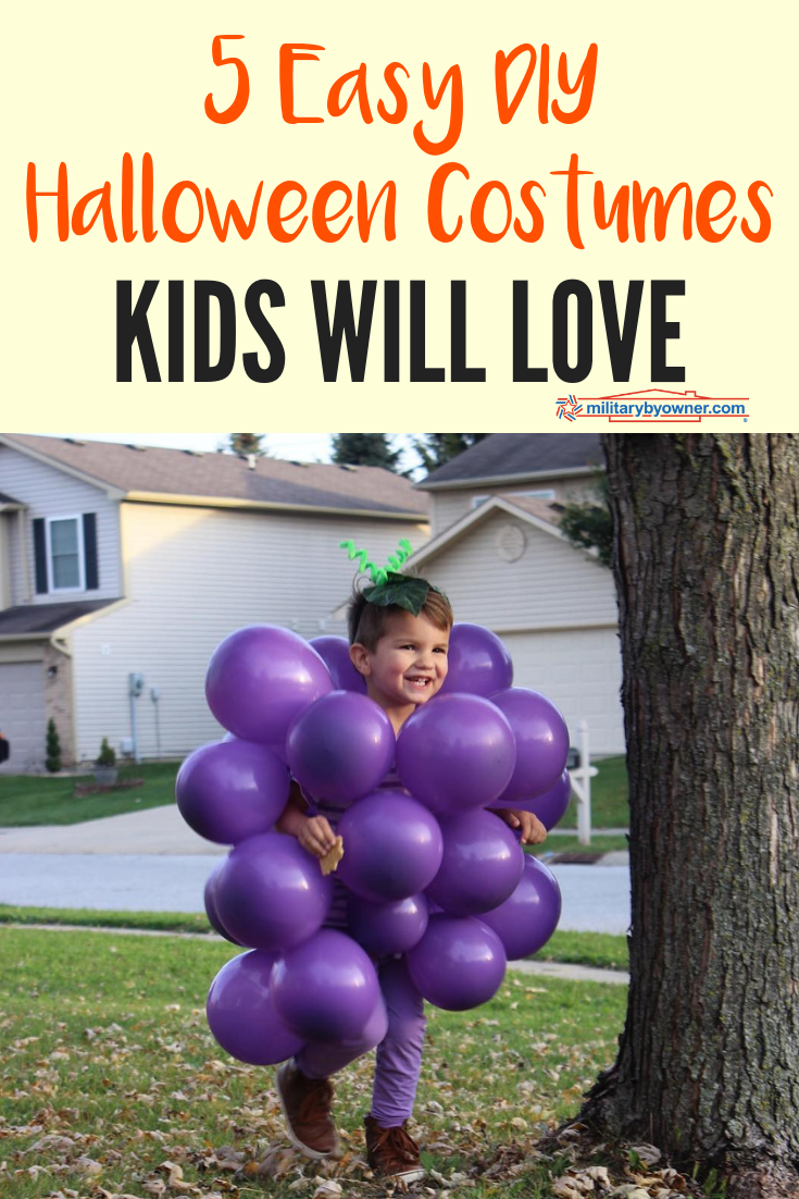 5 Easy DIY Halloween Costumes Your Kids Will Love!