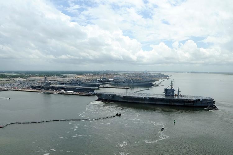 Aerial view of Naval Station Norfolk, Virginia