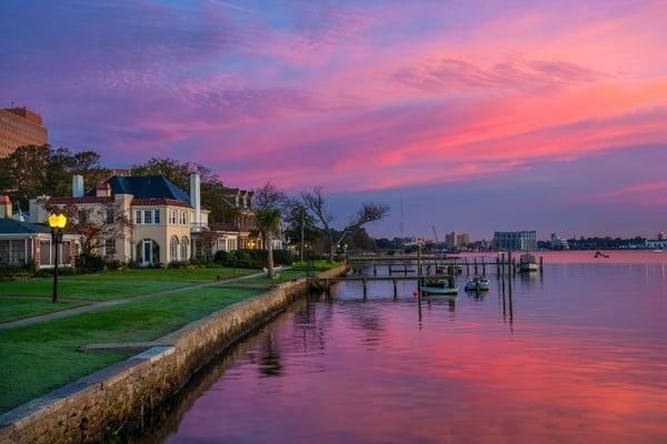 Portsmouth at dawn