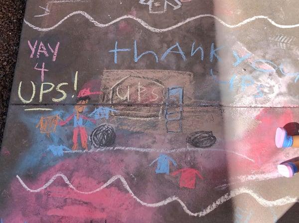 sidewalk chalks messages