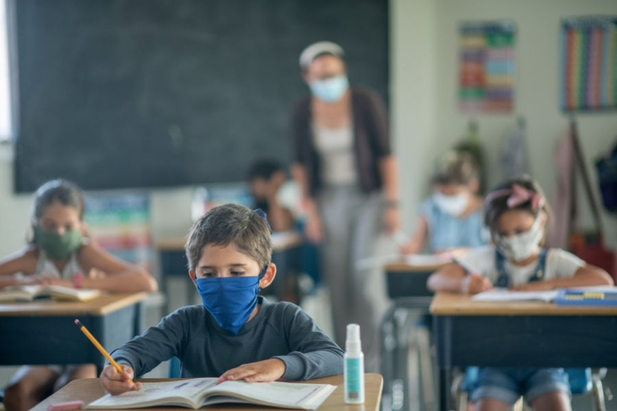 Each school, school district and state may require a variety of screenings, mask guidance, or other measures.