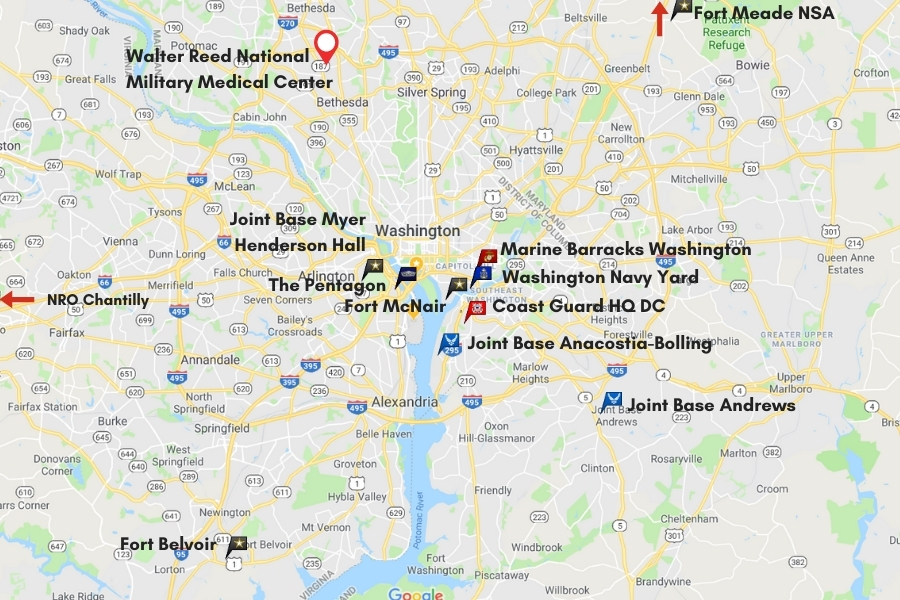 D.C. area bases