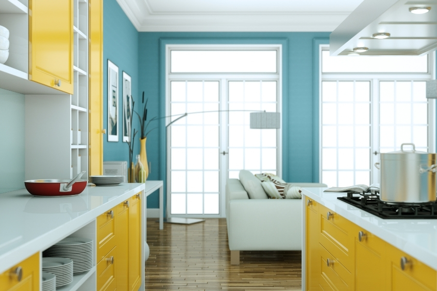 There are lots of color possibilities for your kitchen cabinets and walls.