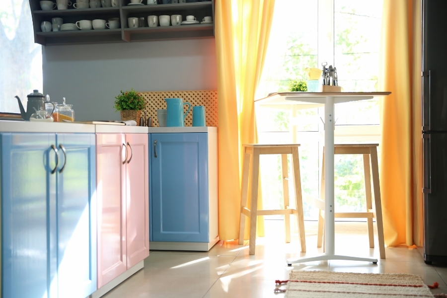 Choosing a type of paint for your kitchen cabinets comes down to what you want in your kitchen.