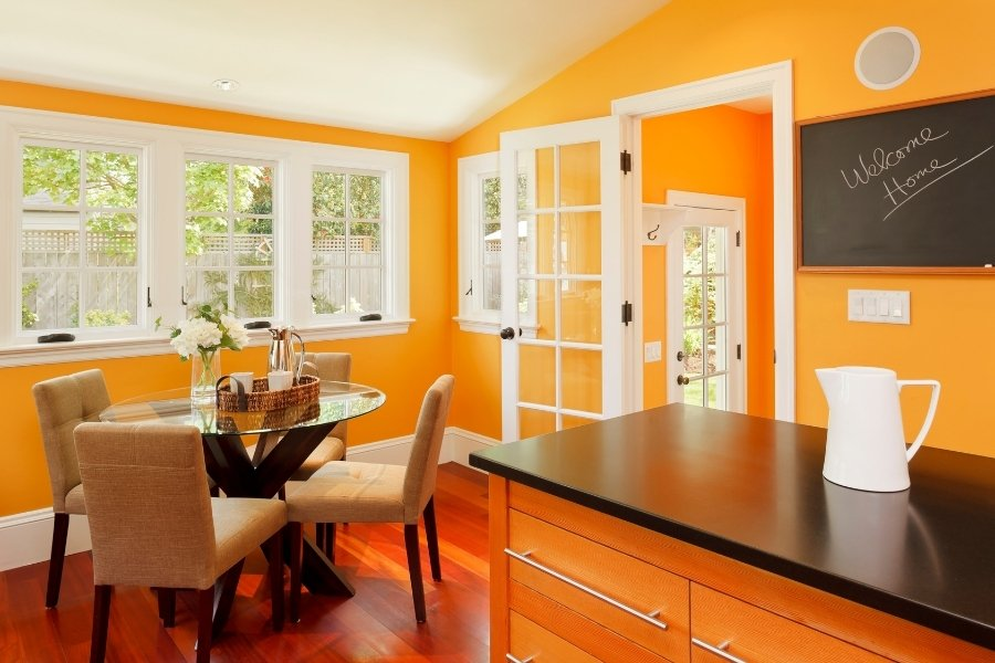 After painting your cabinets, painting your walls should be a breeze.
