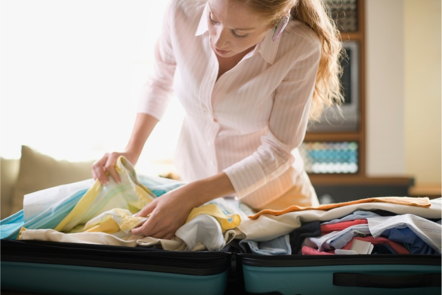 Even though you'll have to pack it up again to move to your more permanent home, you should unpack your most used items.