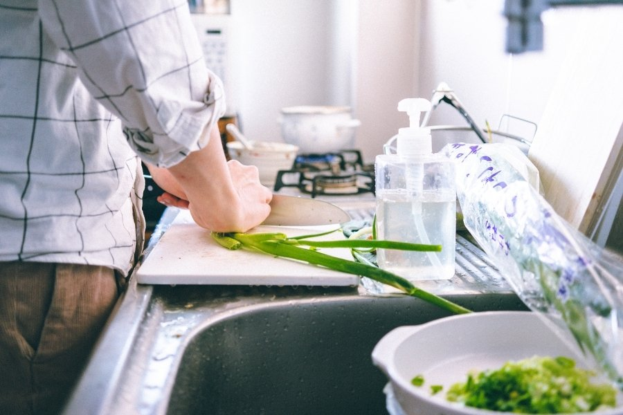 If cooking is a big part of your normal routine, then cut back on eating out and get creative about preparing your meals while in temporary lodging