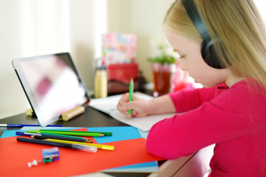 Kids will need their own space for work from home.