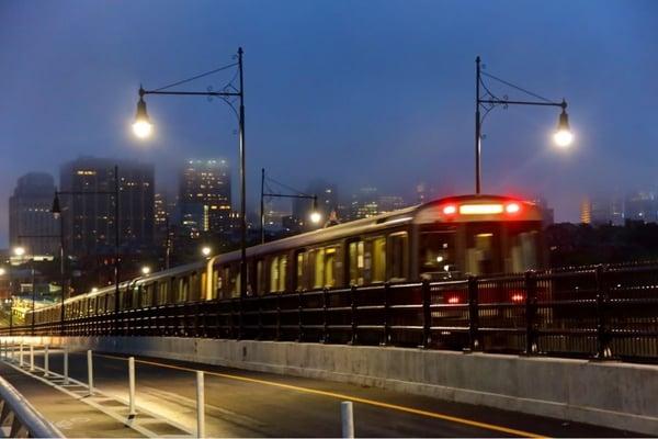 Boston Redline Subway Train