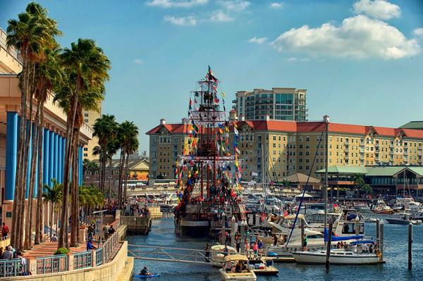 The annual Gasparilla Pirate Fest in Tampa, FL.
