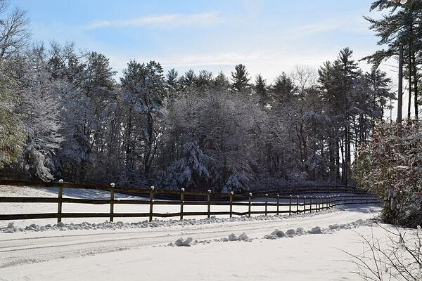 Hanscom AFB snow