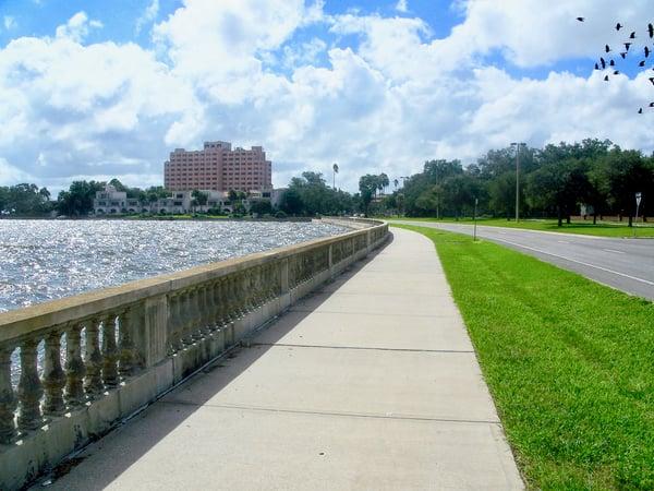 Bayshore Blvd in Tampa, Florida, near MacDill AFB