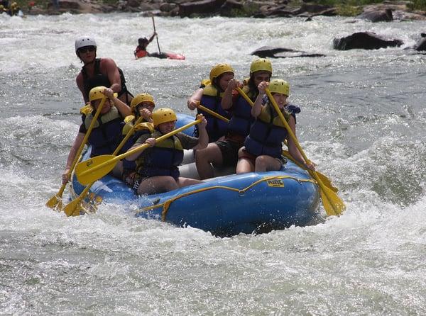 White water rafting on Chattahoochee