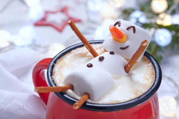 Hot cocoa and candy are always a hit during the holidays.