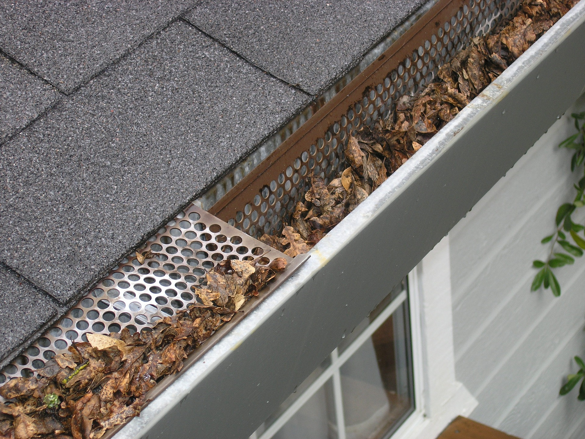 Check gutters and drains while doing winter home maintenance.