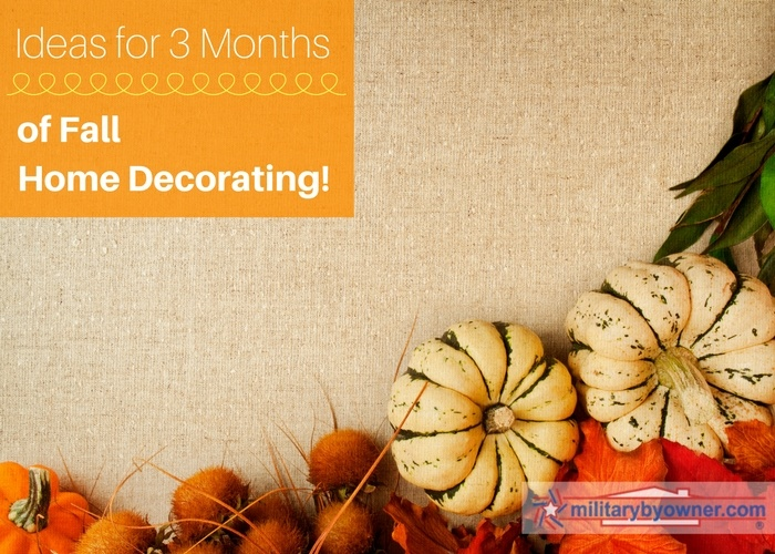 Ideas for 3 months of fall home decorating!