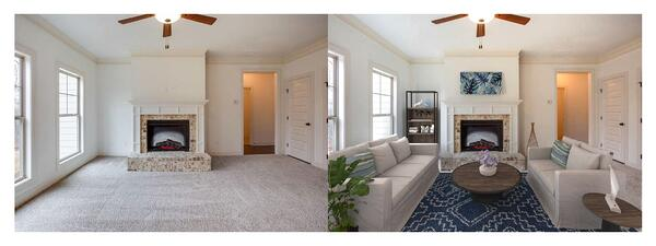Before and after virtual staging