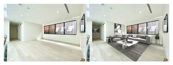 Example of modern virtual staged living area.