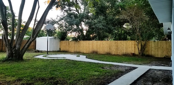 Tampa Home Back Yard
