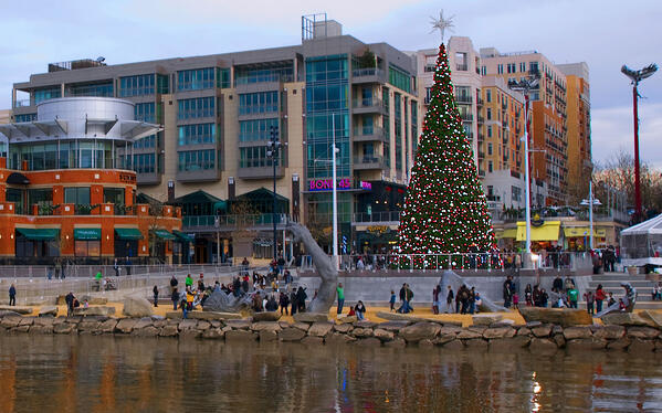 National Harbor at Christmas