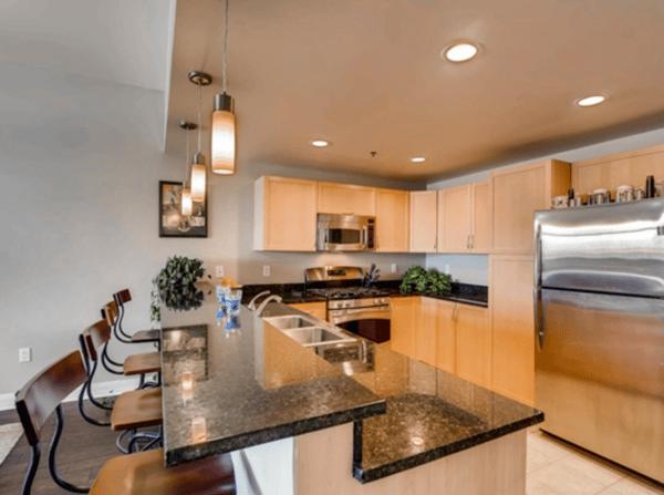 Las Vegas Apartment kitchen