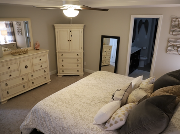 Liberty Lane Fayetteville home for rent master suite