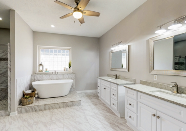 Master bath and suite
