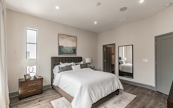 West McElroy townhome bedroom