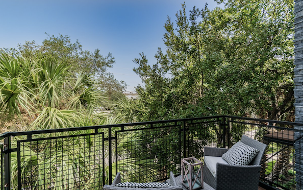 West McElroy townhome balcony