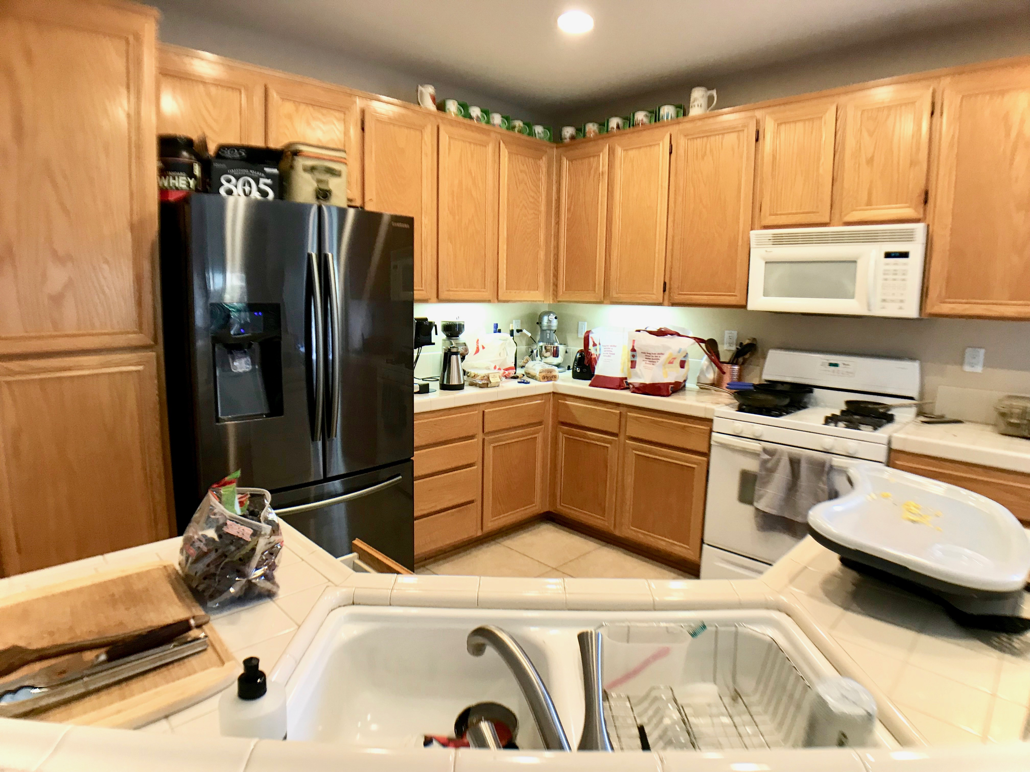 Don't leave clutter out when taking home listing photos.