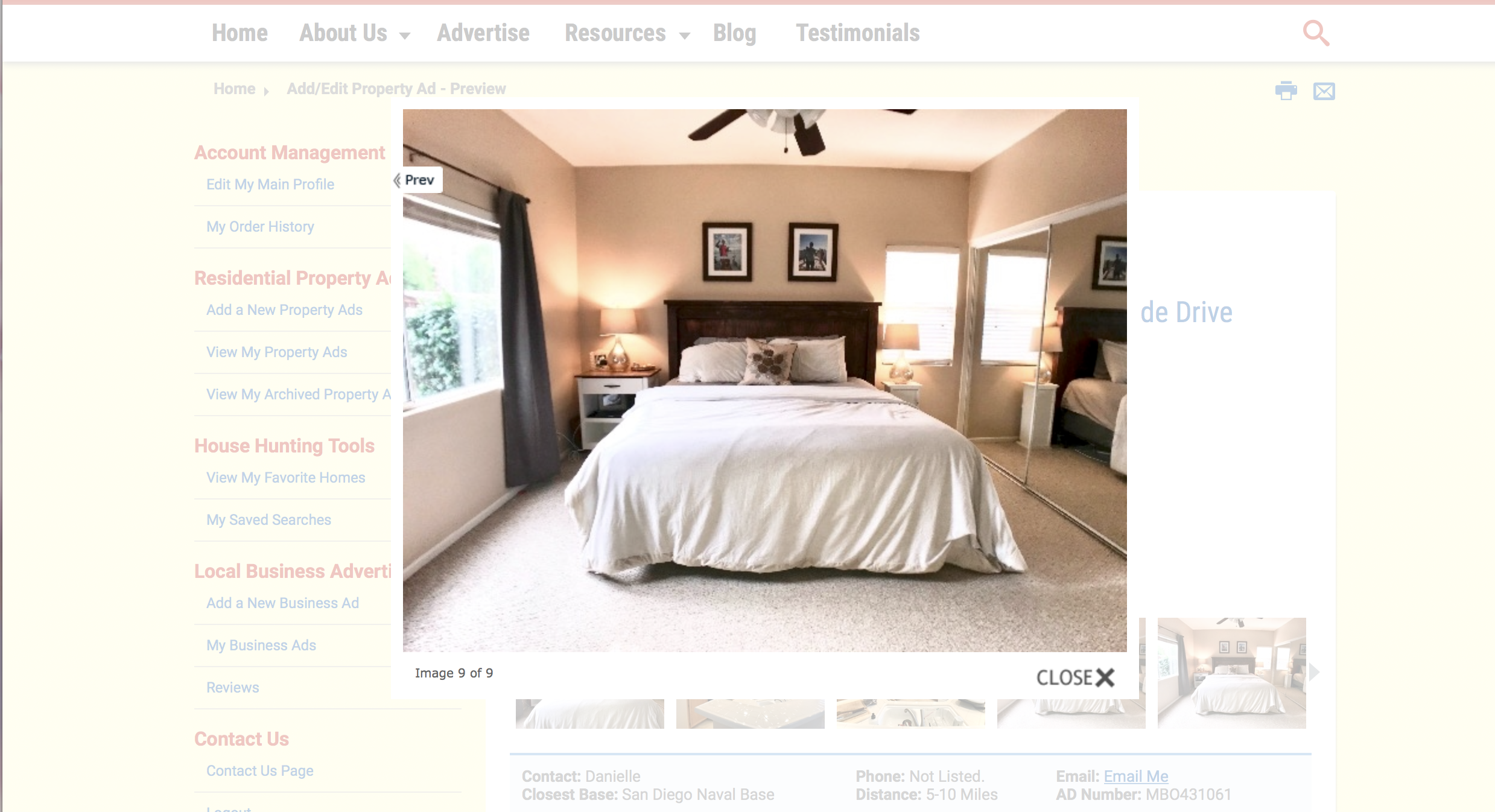 Example of minimum resolution home photo.