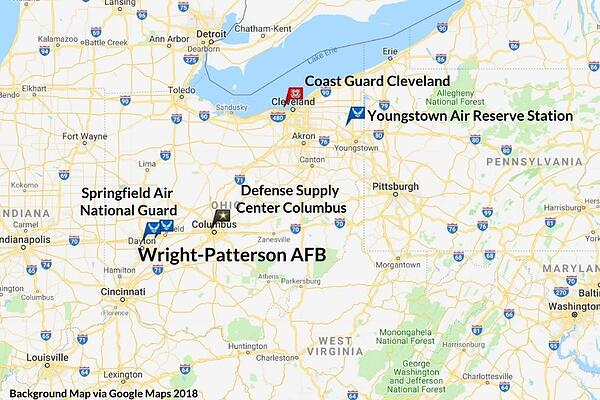 WPAFB Area Map