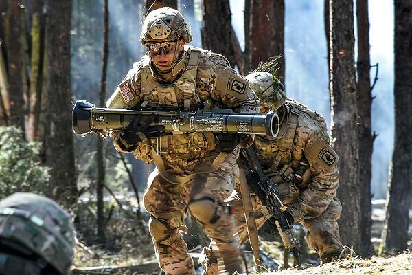 AT-4 training grenade launcher