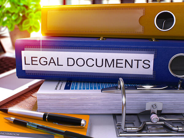 It's important to keep track of your legal documents.
