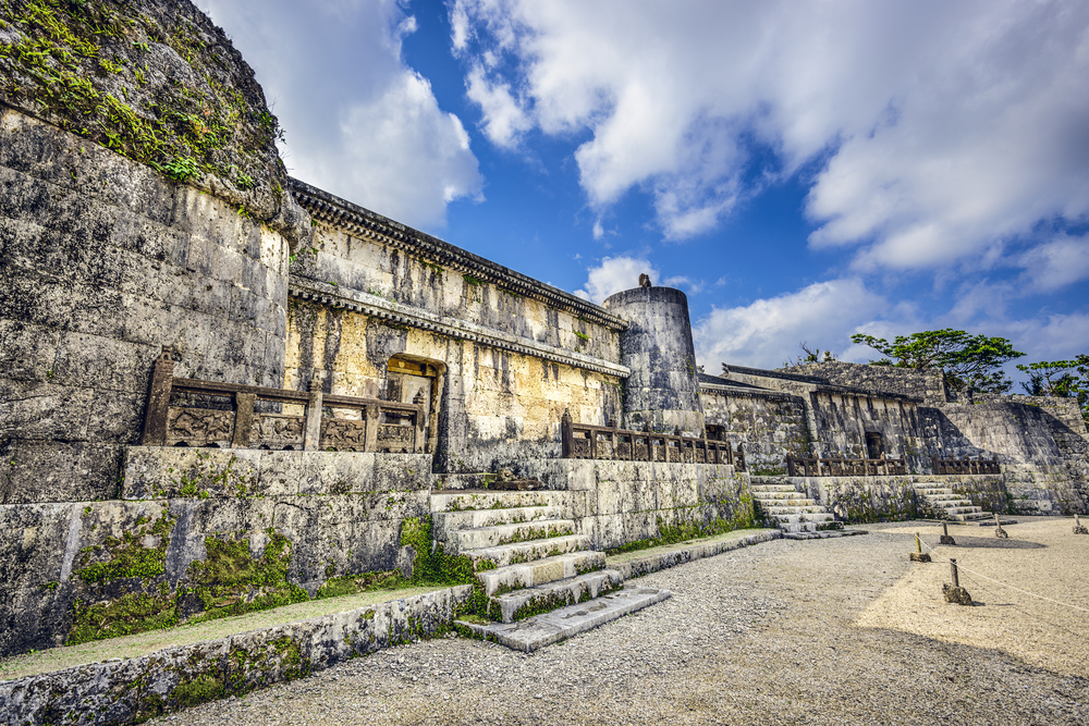 Tamaudun Mausoleum in Okinawa, Japan. The remains of 18 Ryuku kings and their families are entombed there.
