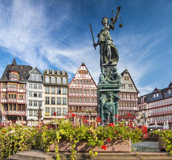 The Old City of Frankfurt, Germany.