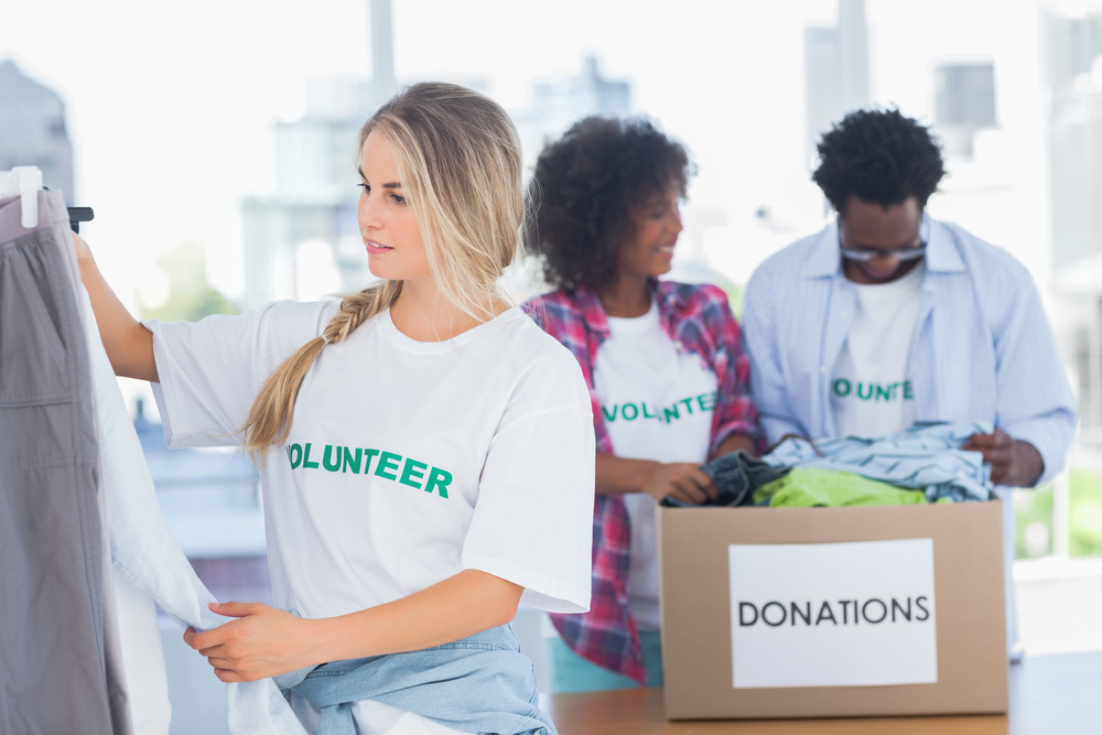 Volunteering is a great way to make connections.