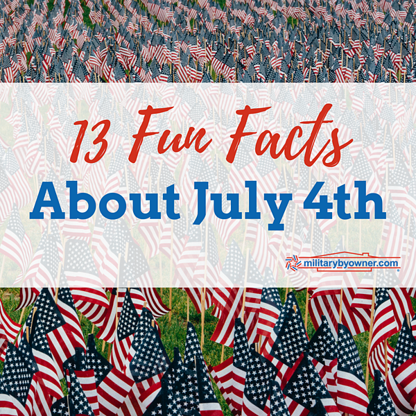13 Fun Facts About July 4th