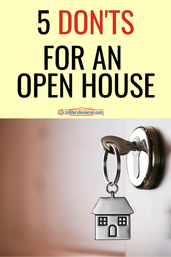 5 Donts for an Open House