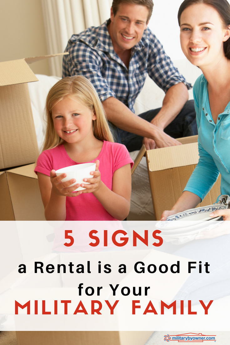 5 Signs a Rental Is a Good Fit for Your Military Family 1