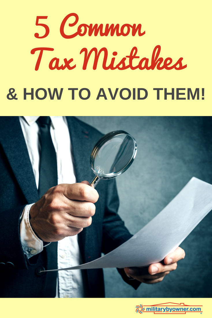 5 Common Tax Mistakes and How to Avoid Them