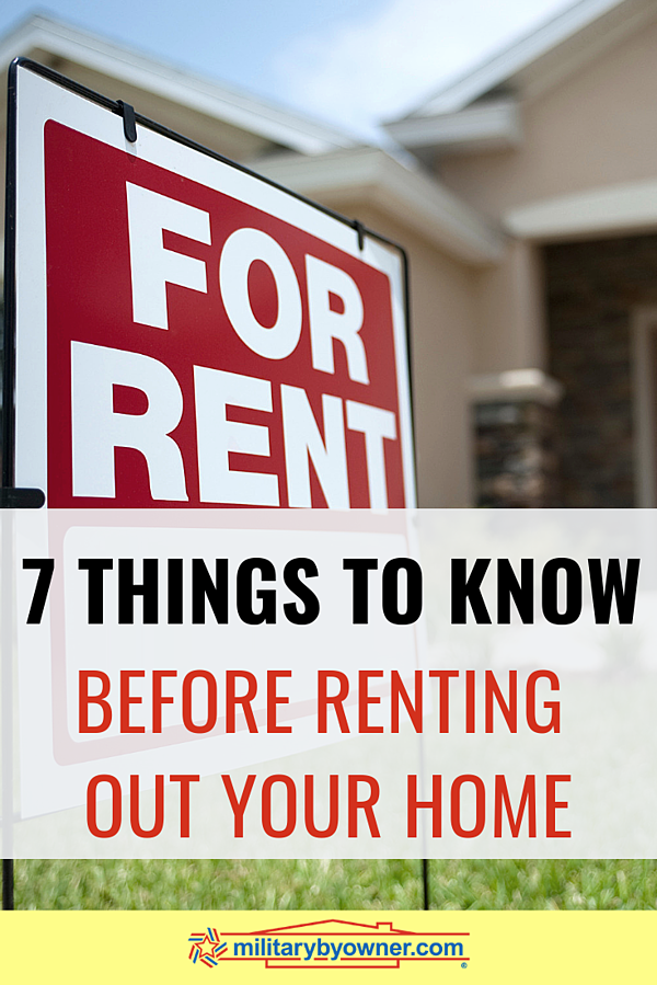 7 Things to Know Before Renting Out Your Home