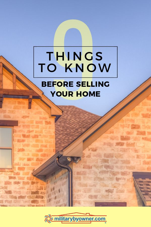 9 Things to Know Before Selling Your Home Pinterest