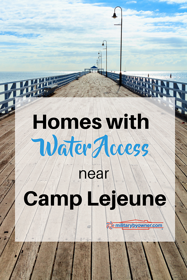 Homes with Water Access Near Camp Lejeune