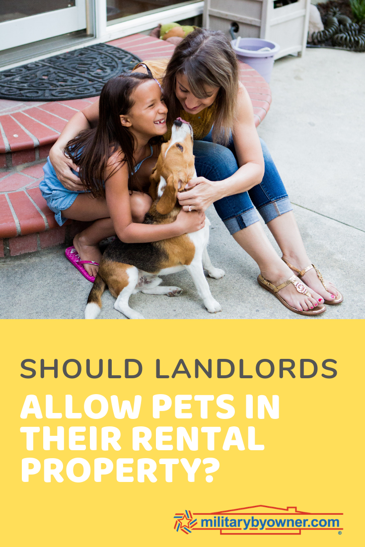 Should Landlords allow pets in their rental property_