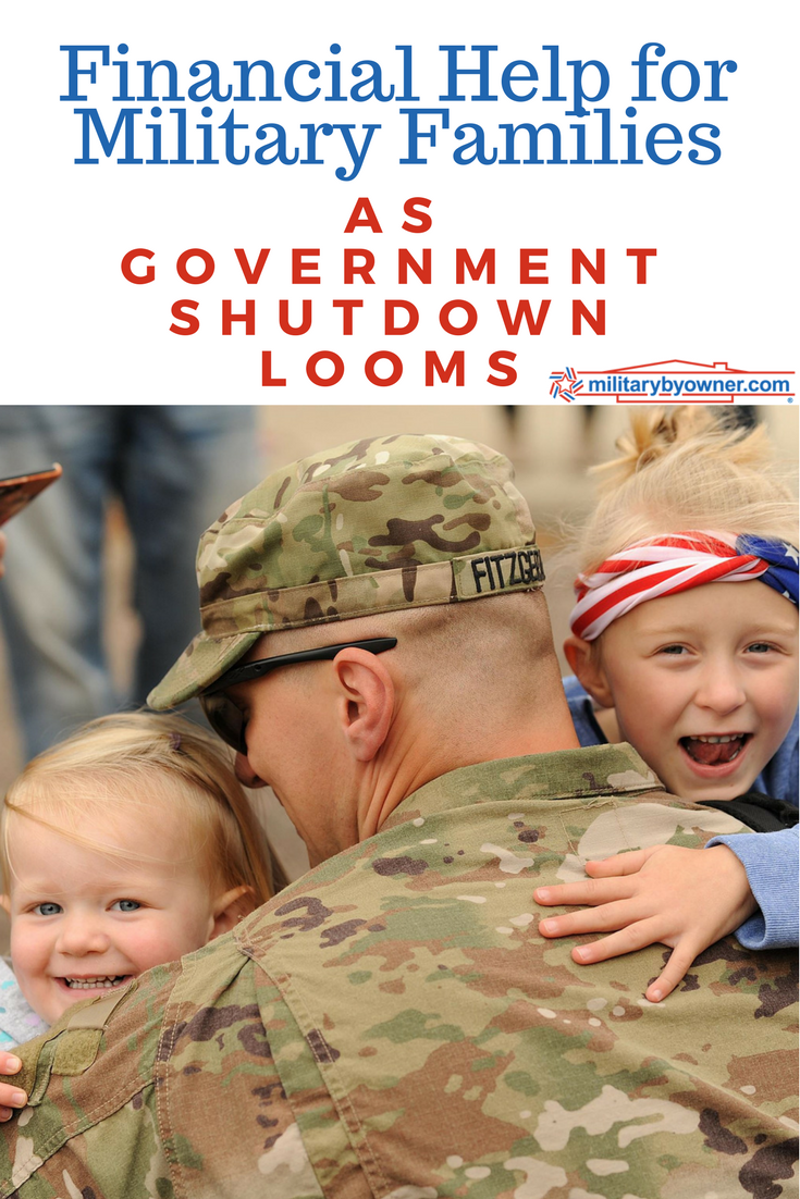 USAA and other agencies offer financial help for military families in the face of another government shutdown.