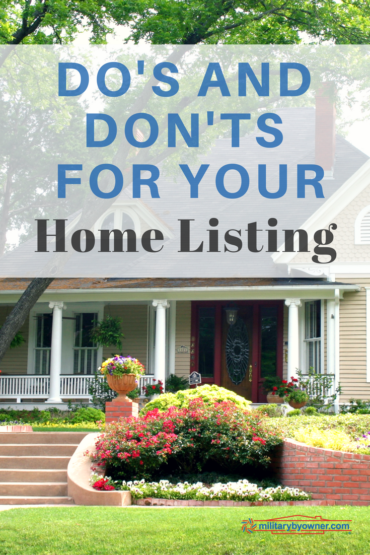 The Best Do's and Don'ts for Your Home Listing