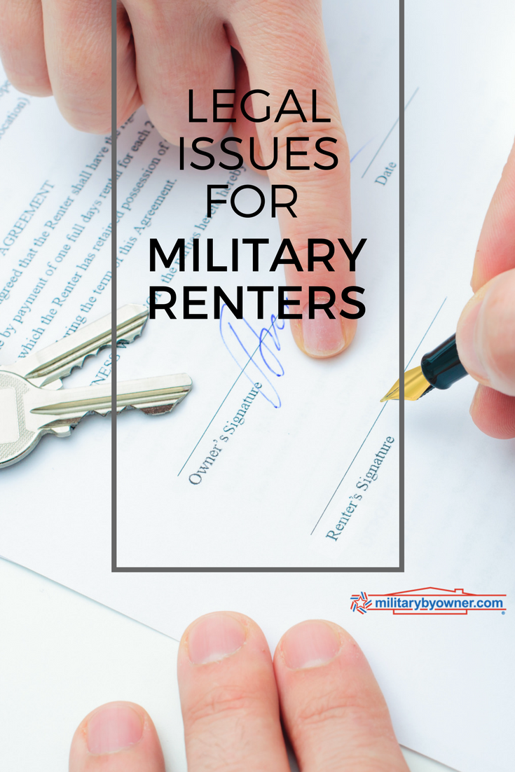 Special Legal Issues for Military Renters