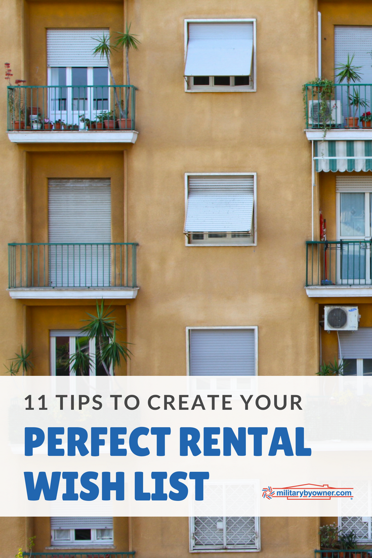11 Tips to Create Your Perfect Rental Wish List